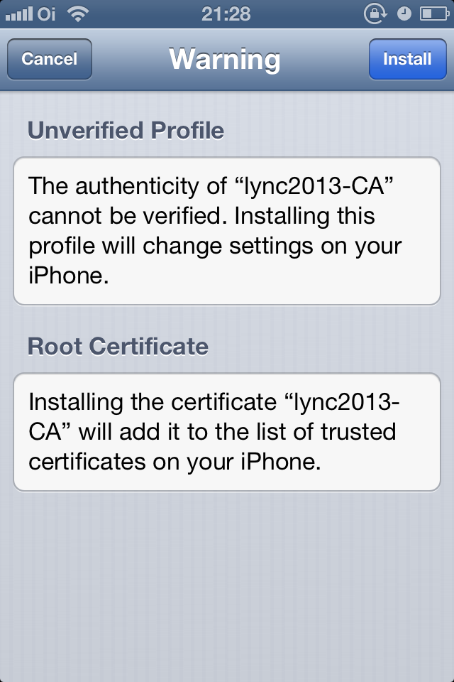 Installing Private Root Ca Certificate On Ios Devices Uc Lobby
