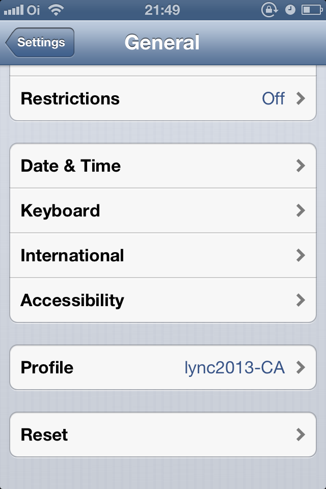 Installing private root CA certificate on iOS devices | UC Lobby