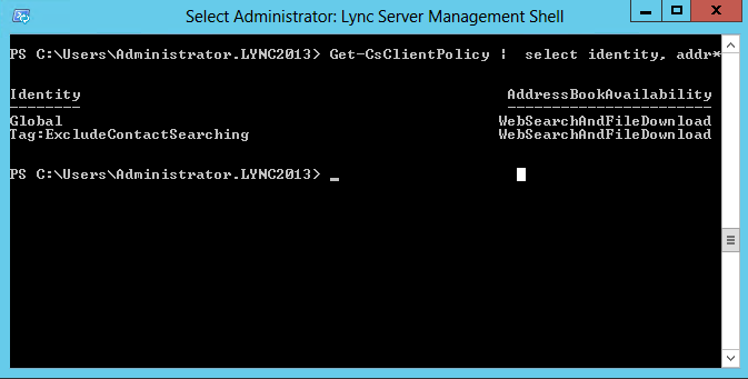 Lync 2013 Address Book Immediately