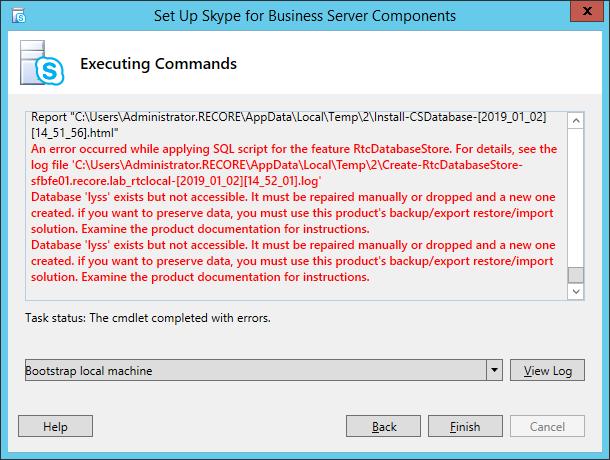Lync/SfB Server: Rebuilding the SQL Local Databases – UC Lobby